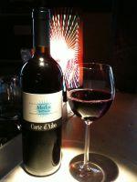 Gute Weine in der Mata Hari Bar
